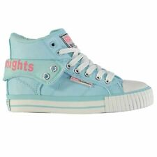 British Knights Roco PU Lace Hi Top Trainers Juniors Mint/Pink Sneakers Shoes