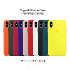 Genuina Original ultra fino funda de silicona para A pple i Phone 8 7 6 6s Plus