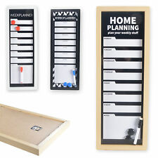 PLANNER SETTIMANALE WeekPlanner WHITEBOARD Lavagnetta magnetica BACHECA LAVAGNA