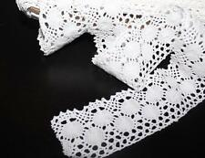 Vintage Style White Lace Crochet Ribbon 1m x 55mm