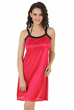 Fasense Women Satin Nightwear Sleepwear Short Nighty DP146 A