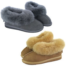 Classic Woman's Ladies Genuine Sheepskin Moccasins Slippers Box & Gift Bag LM