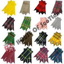 Highland Kilt Hose Socks Flashes Various Scottish Tartans Garters Pointed Wool