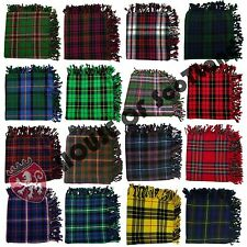 """Scottish Fly Plaid 48"""" X 48"""" Various Design With Antique Brooch 3""""/Pin & Brooch"""