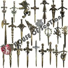"Scottish Thistle Kilt Pin Antique Finish Various Design 4"" Celtic Pins Brooches"