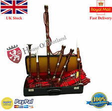 Scottish Bagpipe Full Set  Silver Amounts/Great Highland Bagpipe with Tutor Book
