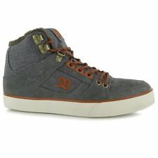 DC Spartan High Skate Shoes Mens Grey Casual Trainers Sneakers