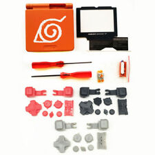 GBA SP Game Boy Advance SP Replacement Housing Shell Naruto Orange BUTTONS!