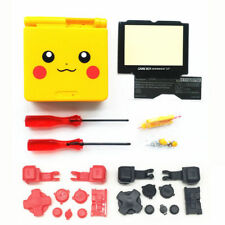GBA SP Game Boy Advance SP Replacement Housing Shell Pikachu Yellow BUTTONS!
