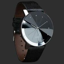 Luxury Quartz Watches Men's Stainless Dial Leather Band Wrist Watch ....