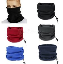 New Men Thermal Polar Fleece Neck Warmer Tube Snood Scarf Motorbike Mask Plain