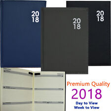 2018 Diary A5/A6 Day to Page or Week to View Desk Diary Premium Padded Quality