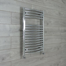 600mm Wide 775mm High Flat or Curved Chrome Heated Towel Rail Radiator Bathroom
