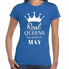 Auténtico Reinas Are Born In May - CAMISETA DE MUJER