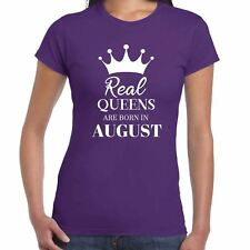 Auténtico Reinas Are Born in august - CAMISETA DE MUJER