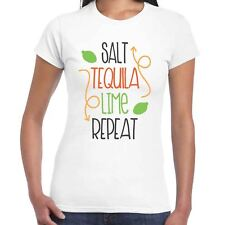 sale, Tequila, Verde lime, ripetere Ladies T-Shirt - BERE DIVERTENTE