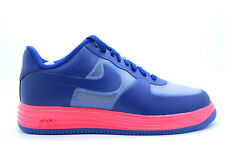 [599839-001] NIKE LUNAR FORCE 1 FUCE LEATHER MENS SNEAKERS WOLF GRY/DP RYL BLUE-