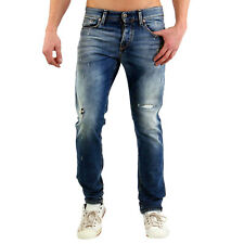 JACK & JONES Uomo Slim Jogging jeans pantaloni Glenn ICON BLUE bl670