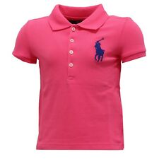8986T polo bimba RALPH LAUREN maglia fuxia t-shirt polo kid girl