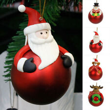 Christmas Tree Cute Hanging Bear Santa Claus Snowman Ball Decor Xmas Home Decor