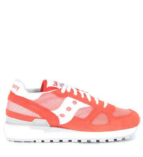 Sneaker Saucony Shadow in suede e tessuto rosa salmone