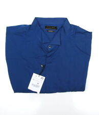 Zara Men's original slim fit long sleeved shirt button blue 100% cotton