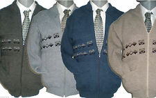 Mens Zip up Cardigans Smart Casual Wear Excellent Quality light grey charcoal