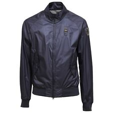 9689T giubbotto uomo BLAUER antivento bomber corto blu blue jacket men