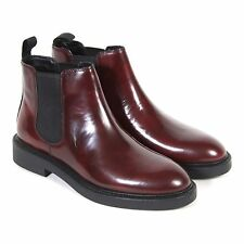 Vagabond Women's Alex Polished Leather Pull On Chelsea Boot Bordo