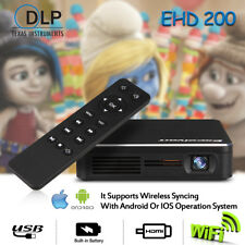 Excelvan EHD200 DLP Proyector LED Multimedia Reproductor 854x480 Inalámbrico