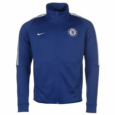 Nike Chelsea FC Authentic Track Jacket Mens Blue Football Soccer Tracksuit Top