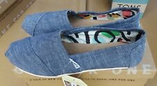 TOMS Classic Blue Chambray Canvas Ladies Shoes