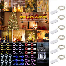 30 LED BATTERY OPERATED MICRO COPPER WIRE STRING FAIRY PARTY XMAS WEDDING LIGHTS