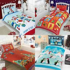 Christmas Duvet Covers Kids Festive Bedding Santa Xmas Quilt Set