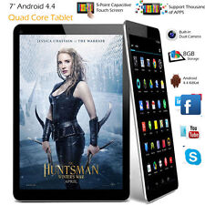 "7 "" pollici Android Tablet 8GB Quad Core 4.4 Doppia Camera Bluetooth Wi-Fi PC UK"