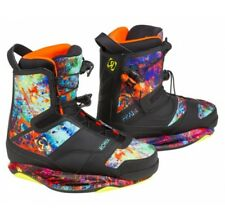 Ronix Frank Boot splattered everything CLOSED toe wakeboard bindings boots NEW