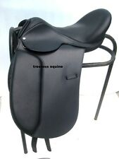 Quality Leather Dressage Treeless Saddle Black Size with Accessories in 5 sizes