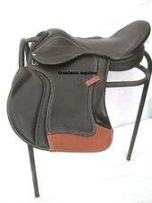 Premium Quality Black/Brown cow softy Leather Treeless GP Saddle in 5 sizes+acce