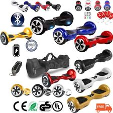 """NUOVO HOVERBOARD LUCI LED SPEAKER E BLUETOOTH SCOOTER OVERBOARD 6,5""""- 8""""-10"""" ER"""