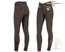 SALE! GORGEOUS COVALLIERO ANCELLE BROWN SOFTSHELL FULL SILICONE SEAT BREECHES