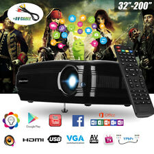 HD 1080P 3200Lumens WIFI ANDROID6.0 1+8G 3D ATV BT LED Proyector Para Smartphone