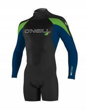 O'neill epic back zip 2mm long sleeve shorty spring wetsuit black deepsea dayglo
