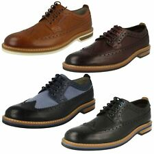 Mens Clarks Smart Casual Brogue Style Shoes Pitney Limit