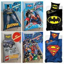 DC COMICS BATMAN SUPERMAN Set Housse de couette LITERIE enfants garçons - Simple