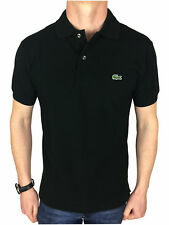 Lacoste Mens S/S Logo Branded Polo Shirt in Black