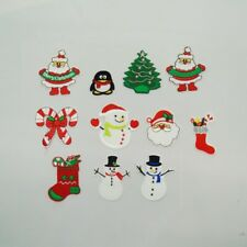 Budget Assorted Christmas Classic Festive Character Iron On Motifs Applique