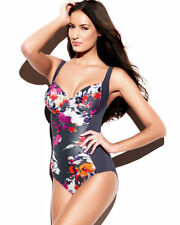 Panache Swimwear Tallulah Underwired Swimsuit Swimming Costume SW0740 Charcoal