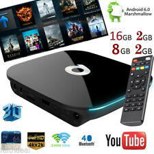 Q-BOX 2GB/8GB 2GB/16GB HD Smart TV Box PC Android 6.0 1080P 2K*4K Quad Core WIFI
