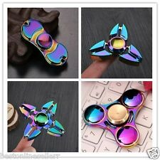 NEW METAL RAINBOW SHADE FIDGET SPINNER for Fun Anti-Stress, Focus, ADHD, Anxiety