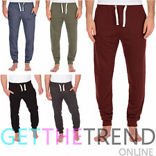 Mens Joggers Skinny Slim Fit Sweats Gym Trousers Sports Pants Bottoms Tracksuit